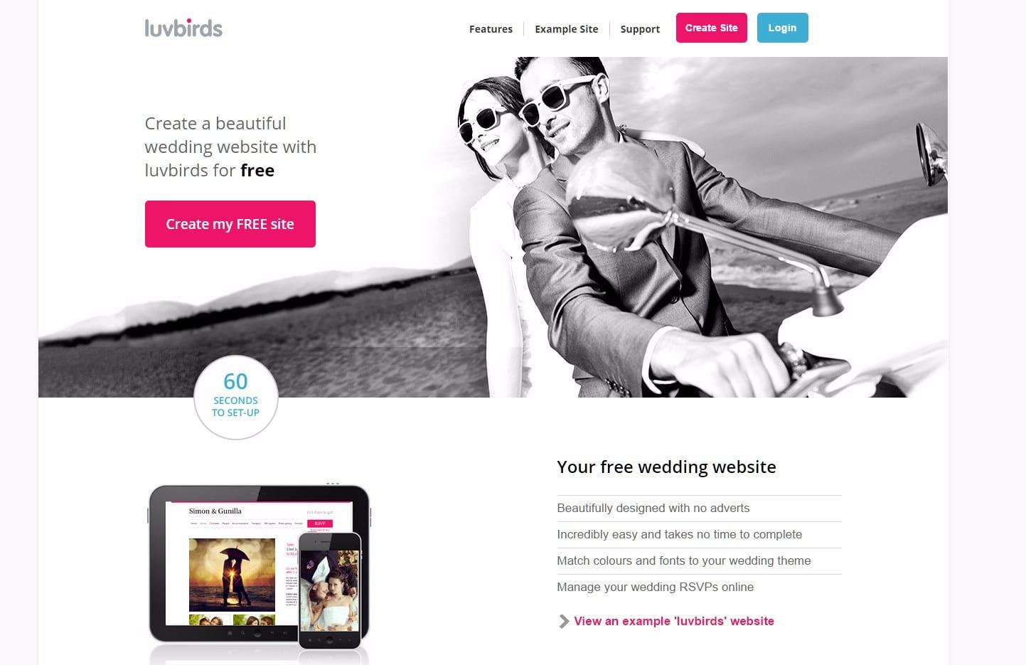 Luvbirds Beautiful Wedding Website Builder Google Chrome 4282017 83827 Pm Bmp