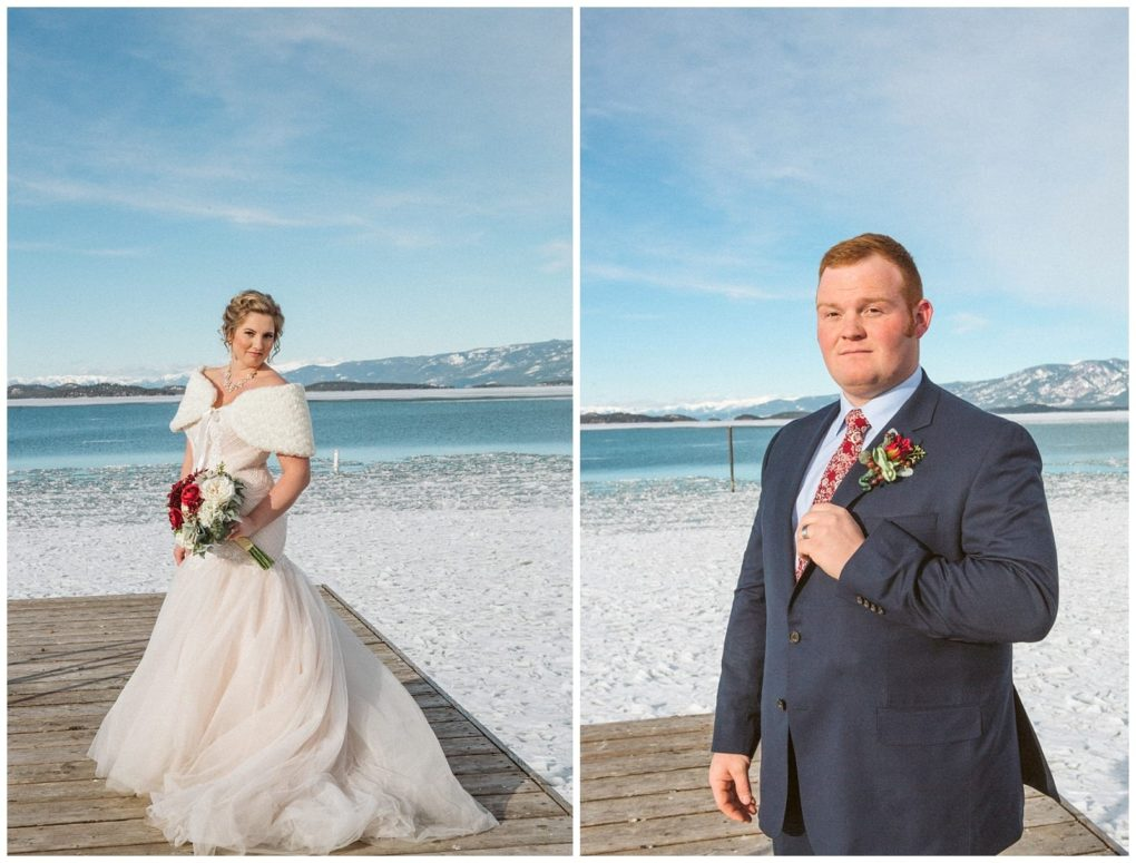 Frozen Lake + A Pretty Cake | Polson Montana Wedding | GSquared Weddings